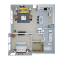 A2 Floorplan at Lone Oak Apartments